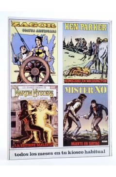 Contracubierta de MISTER NO 7. TAMBORES EN LA JUNGLA (G.Nolitta / R. Diso) Zinco 1983. BONELLI