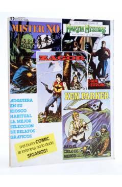 Contracubierta de MISTER NO 8. EL CAIMÁN DE PLATA (G.Nolitta / Bignot) Zinco 1983. BONELLI