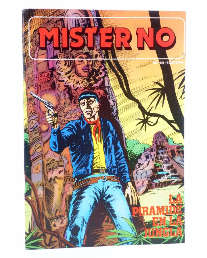 Cubierta de MISTER NO 15. LA PIRÁMIDE EN LA JUNGLA (G. Nolitta) Zinco 1983. BONELLI