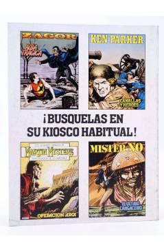 Contracubierta de KEN PARKER 3. CANALLAS Y HÉROES (Berardi / Milazzo) Zinco 1982. BONELLI