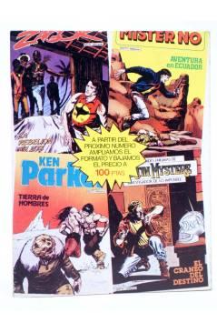 Contracubierta de KEN PARKER 10. LAS TIERRAS BLANCAS (Berardi / Marraffa) Zinco 1983. BONELLI