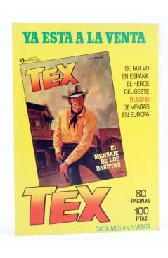 Contracubierta de KEN PARKER 12. LA BALADA DE PAT O'SHANE (Berardi / Milazzo) Zinco 1983. BONELLI