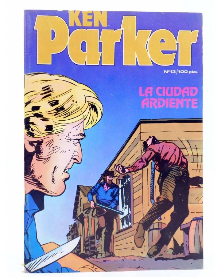 Cubierta de KEN PARKER 13. LA CIUDAD ARDIENTE (Berardi / Trevisan) Zinco 1983. BONELLI