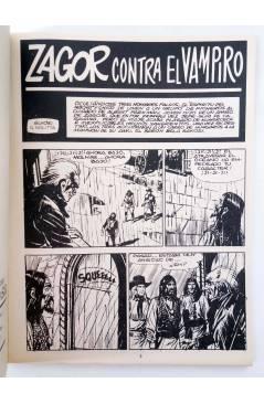 Muestra 1 de ZAGOR 2. CONTRA EL VAMPIRO (G. Nolitta) Zinco 1982. BONELLI