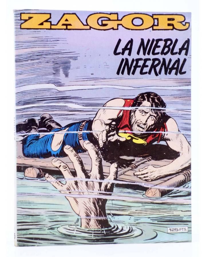 Cubierta de ZAGOR 5. LA NIEBLA INFERNAL (G. Nolitta) Zinco 1983. BONELLI