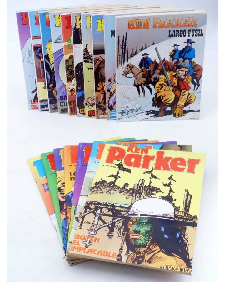 Cubierta de KEN PARKER 1 A 17. COMPLETA (Berardi) Zinco 1982. BONELLI