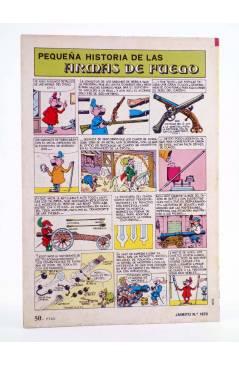 Contracubierta de JAIMITO PUBLICACIÓN JUVENIL 1670. 16 Junio 1984 (Vvaa) Valenciana 1984