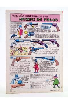 Contracubierta de JAIMITO PUBLICACIÓN JUVENIL 1677. 04 Agosto 1984 (Vvaa) Valenciana 1984