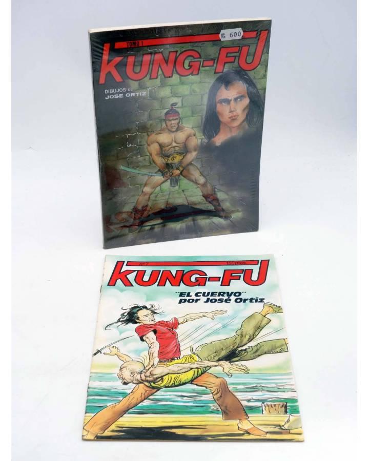 Cubierta de KUNG-FU RETAPADO 1 a 6 + nº 7. COMPLETA. ARTES MARCIALES EN HISTORIETAS (José Ortiz) Iru 1987
