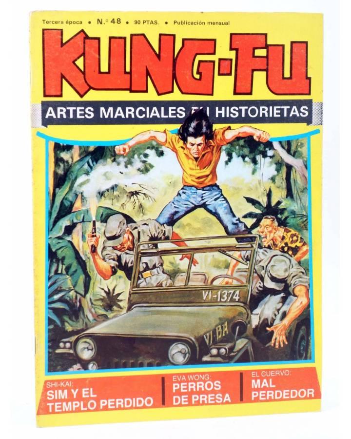 Cubierta de KUNG FU. LAS AVENTURAS DE LOS INVENCIBLES 48. SIM Y EL TEMPLO PERDIDO (José Ortiz / Leopoldo Ortiz) Amaika 1