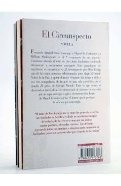 Contracubierta de EL CIRCUNSPECTO (Fernando Arrabal) Reino de Cordelia 2016