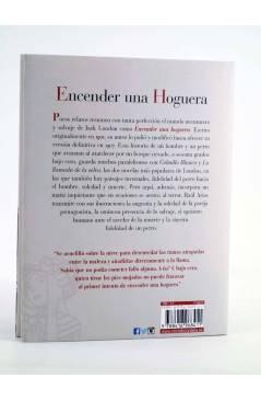Contracubierta de ENCENDER UNA HOGUERA (Jack London / Raúl Ariasç) Reino de Cordelia 2018