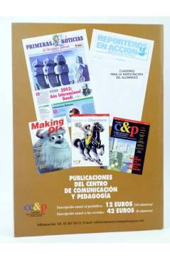 Contracubierta de REVISTA MAKING OF CUADERNOS DE CINE Y EDUCACIÓN 37. Esp cine y multiculturalidad (Vvaa) CC&P 2005