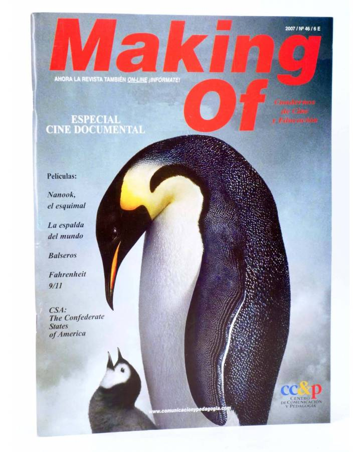 Cubierta de REVISTA MAKING OF CUADERNOS DE CINE Y EDUCACIÓN 46. Especial Cine Documental (Vvaa) CC&P 2007
