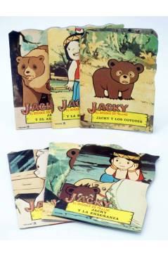 Cubierta de TROQUELADOS TV T.V. JACKY EL BOSQUE DE TALLAC 3 a 8. LOTE DE 6. Fher 1979
