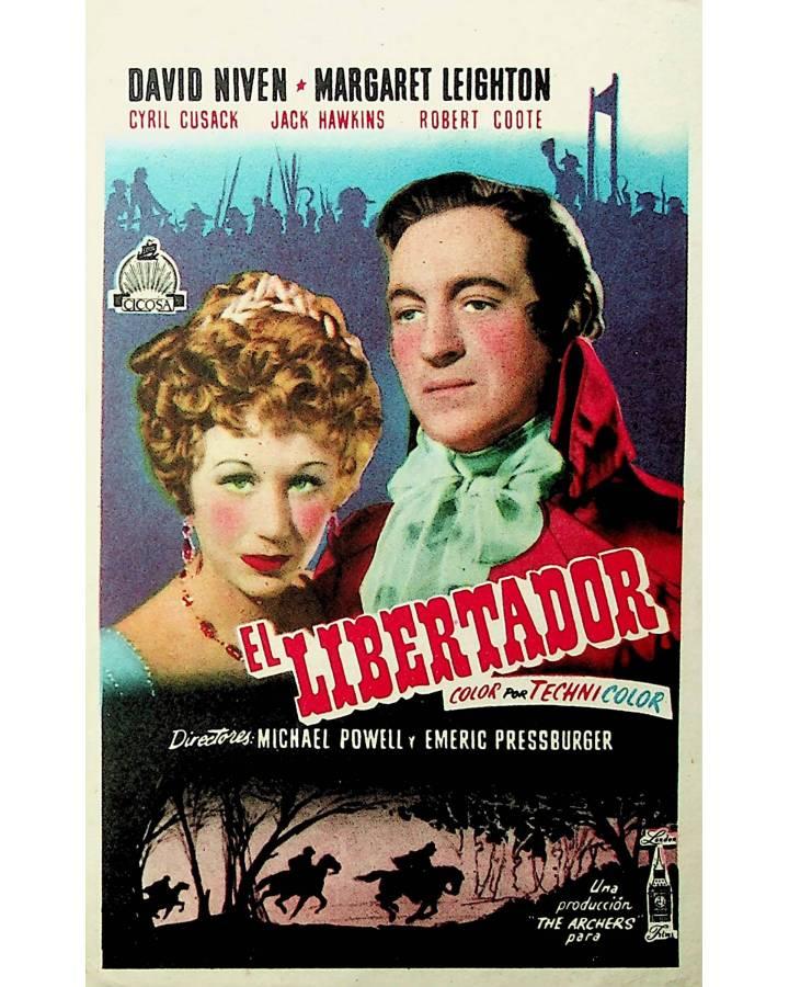 Cubierta de PROGRAMA DE MANO. EL LIBERTADOR. David Niven (Michael Powell Y Emeric Pressburger) London Films