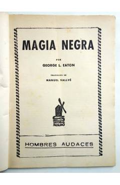 Muestra 1 de HOMBRES AUDACES 86. BILL BARNES 22. MAGIA NEGRA (George L. Eaton) Molino 1944