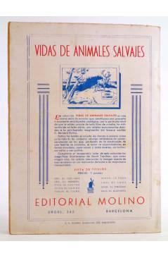 Contracubierta de HOMBRES AUDACES 90. BILL BARNES 23. EL HOMBRE AZUL (George L. Eaton) Molino 1944