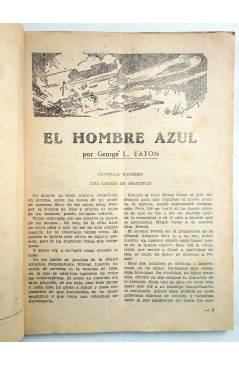 Muestra 3 de HOMBRES AUDACES 90. BILL BARNES 23. EL HOMBRE AZUL (George L. Eaton) Molino 1944