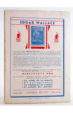 Contracubierta de HOMBRES AUDACES 98. BILL BARNES 25. EL ESPECTRO NEGRO (George L. Eaton) Molino 1945