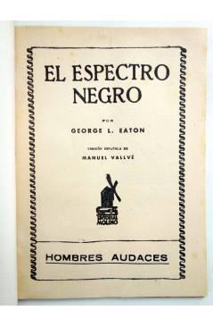 Muestra 1 de HOMBRES AUDACES 98. BILL BARNES 25. EL ESPECTRO NEGRO (George L. Eaton) Molino 1945