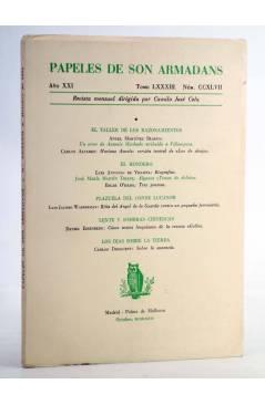 Cubierta de Revista PAPELES DE SON ARMADANS Tomo 83. Núm. 247. Octubre de 1976 (Dirigida Por Camilo José Cela) Palma de