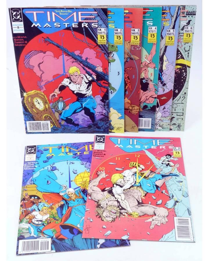 Cubierta de TIME MASTERS. LOS AMOS DEL TIEMPO 1 A 8. COMPLETA (Wayne / Shiner / Thibert) Zinco 1990