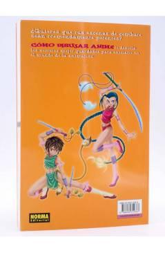 Contracubierta de COMO DIBUJAR ANIME 4. ESCENAS DE COMBATE Y ACCIÓN (Tadashi Ozawa) Norma 2004