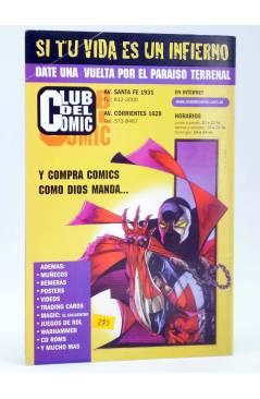 Contracubierta de CABALLERO ROJO 0 (T. Torres / M. Navarro) Comiqueando Press 1997