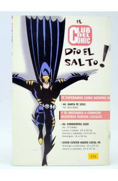 Contracubierta de CABALLERO ROJO 3 (T. Torres / M. Navarro) Comiqueando Press 1997