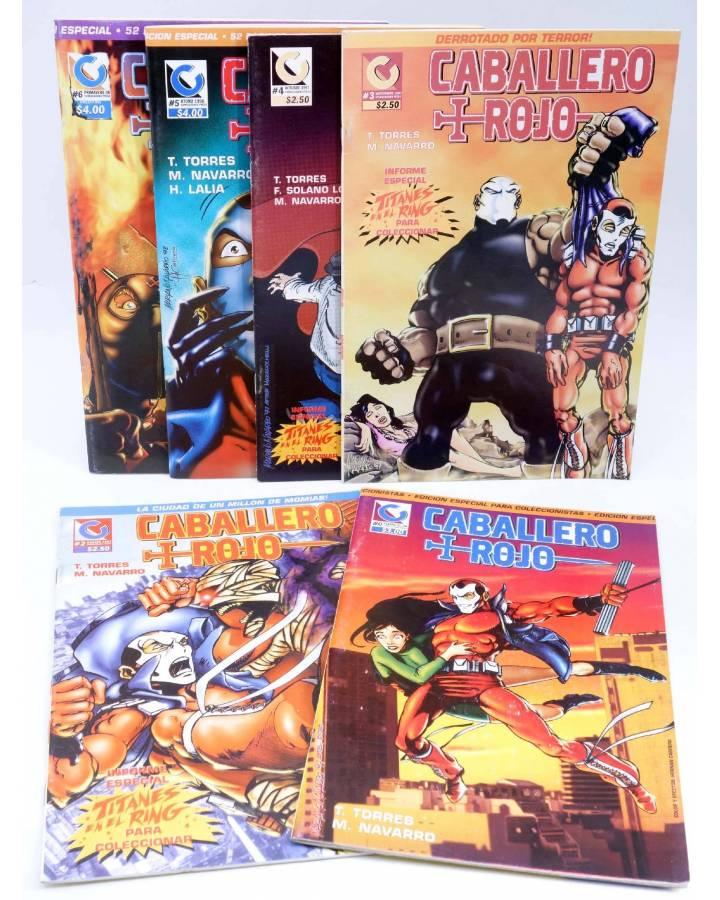 Cubierta de CABALLERO ROJO 0 A 6. A FALTA DEL 1 (Torres / Navarro) Comiqueando Press 1997