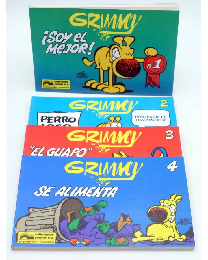 Cubierta de GRIMMY 1 2 3 4. COMPLETA (Mike Peters) Junior / Grijalbo 1989. Mother Goose and Grimm