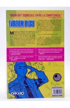 Contracubierta de BRAIN BOY VOL. 1. PSI CONTRA PSI (Van Lente / Silva) Aleta 2014
