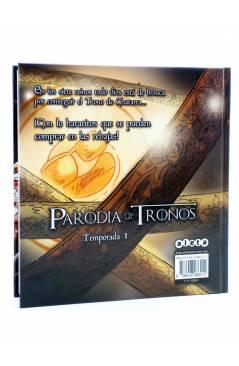 Contracubierta de PARODIA DE TRONOS TEMPORADA 1 (José Fonollosa) Aleta 2015