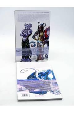 Contracubierta de GLORY VOLS. 1 Y 2. LA DESTRUCTORA QUE FUE Y SERÁ / DESGARRADA POR LA GUERRA (Keatinge / Campbell) Alet