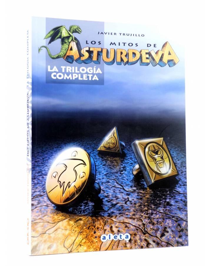 Cubierta de LOS MITOS DE ASTURDEVA. LA TRILOGÍA COMPLETA (Javier Trujillo) Aleta 2006