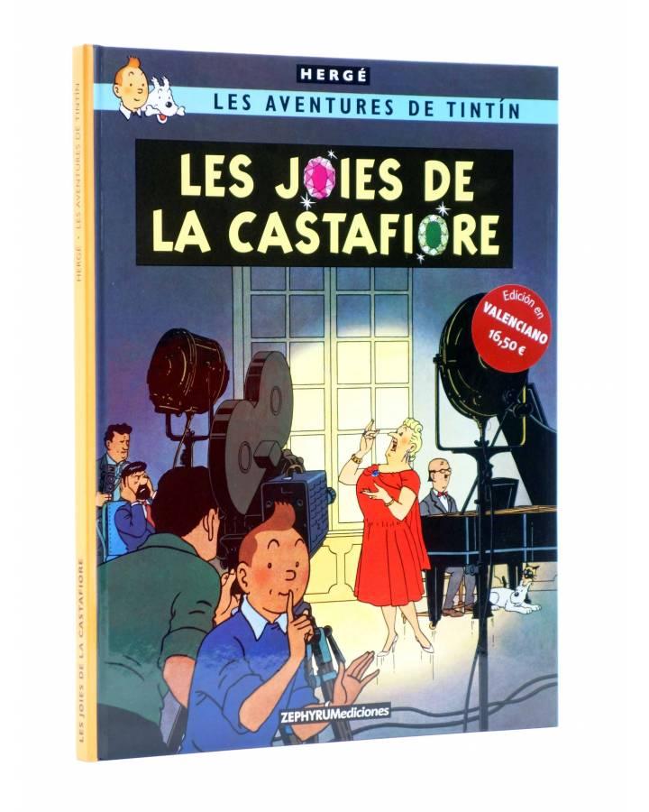 Cubierta de TINTIN. LES JOIES DE LA CASTAFIORE. ED EN VALENCIANO (Hergé) Zephyrum 2019