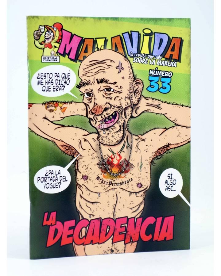 Cubierta de FANZINE MALAVIDA 33. LA DECADENCIA (Vvaa) Editorial Cornoque 1999