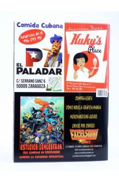 Contracubierta de FANZINE MALAVIDA 33. LA DECADENCIA (Vvaa) Editorial Cornoque 1999