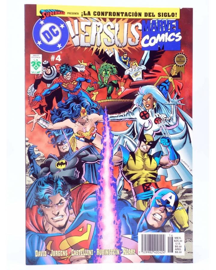 Cubierta de DC VERSUS MARVEL COMICS 4 (David / Jurgens / Castellini / Rubinstein / Neary) Vid 1997