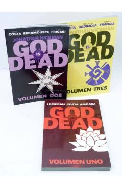 Cubierta de GOD IS DEAD VOLUMENES 1 2 3. COMPLETA (Hickman / Costa) Medusa 2015