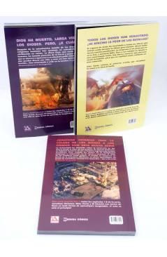 Contracubierta de GOD IS DEAD VOLUMENES 1 2 3. COMPLETA (Hickman / Costa) Medusa 2015