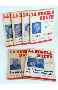 Cubierta de LA NOVELA BREVE 1 a 6. COMPLETA (Joaquín Romero Marchent) Ramón Fau 1949