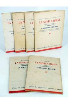 Contracubierta de LA NOVELA BREVE 1 a 6. COMPLETA (Joaquín Romero Marchent) Ramón Fau 1949