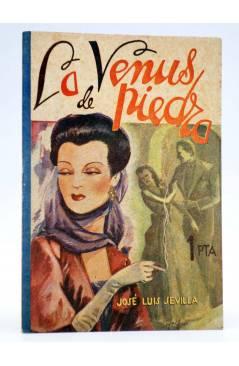 Cubierta de COLECCIÓN BANDA AZUL 3. LA VENUS DE PIEDRA (José Luis Sevilla) Valenciana Circa 1930