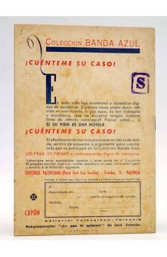Contracubierta de COLECCIÓN BANDA AZUL 3. LA VENUS DE PIEDRA (José Luis Sevilla) Valenciana Circa 1930