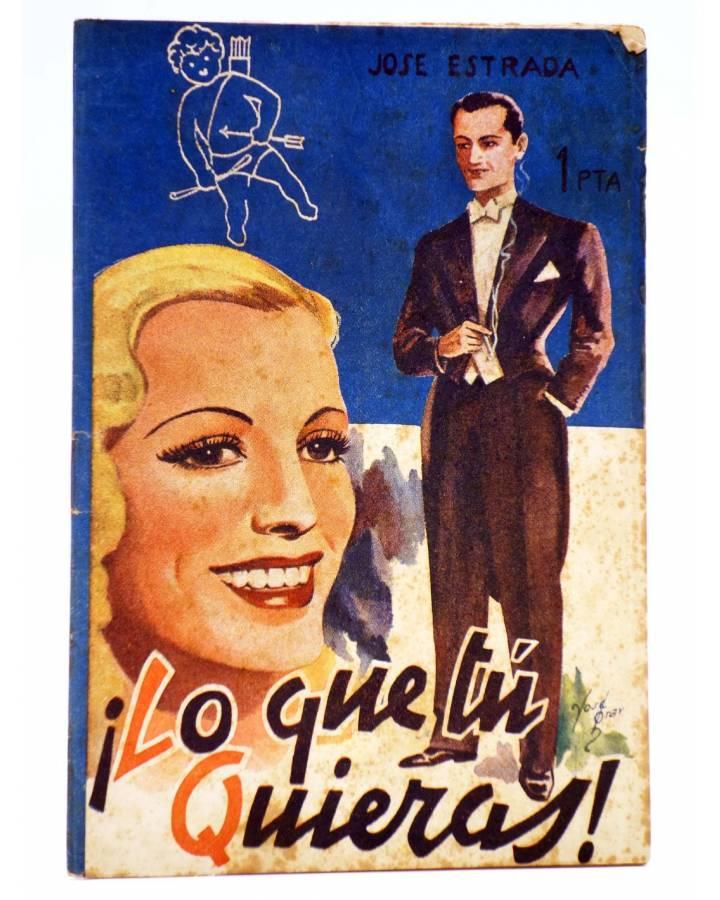 Cubierta de COLECCIÓN BANDA AZUL 4. ¡LO QUE TÚ QUIERAS! (José Estrada) Valenciana Circa 1930