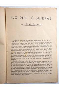 Muestra 1 de COLECCIÓN BANDA AZUL 4. ¡LO QUE TÚ QUIERAS! (José Estrada) Valenciana Circa 1930