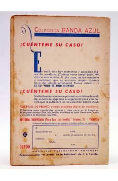 Contracubierta de COLECCIÓN BANDA AZUL 5. EL RIVAL DE PAPÁ (José Bendala) Valenciana Circa 1930