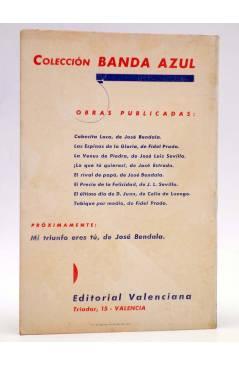Contracubierta de COLECCIÓN BANDA AZUL 8. TABIQUE POR MEDIO (Fidel Prado) Valenciana Circa 1930